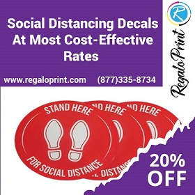 Help in Spreading Awareness of Social Distancing in Public Places with RegaloPrint's Custom Printing Service!