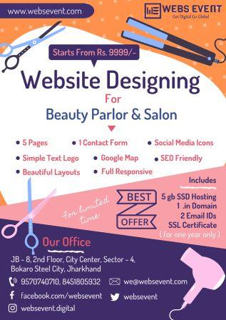 Website Design for Beauty Parlor Service