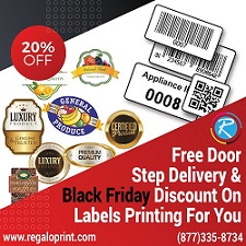 On This Black Friday, RegaloPrint Is Offering 20% Discount On Your All Of The Printing & Packaging Services!